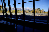 Tetons from the visitor center.
